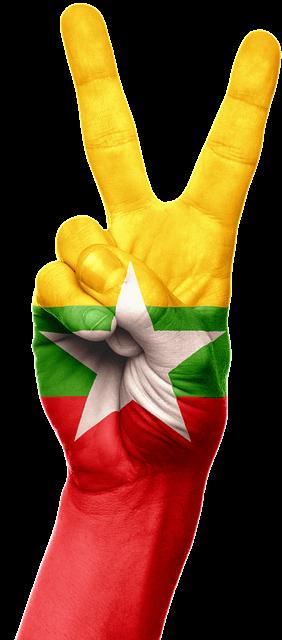 Kambodscha - Flagge Hand